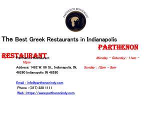 Best Greek Restaurants Indianapolis - Parthenon Restaurant