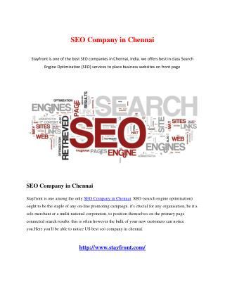SEO Company in Chennai