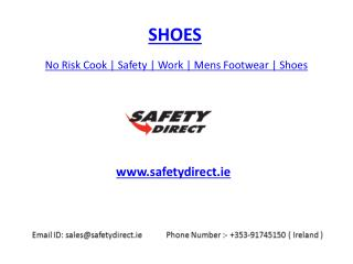 No Risk Cook | Safety | Work | Mens Footwear | Shoes | safetydirect.ie