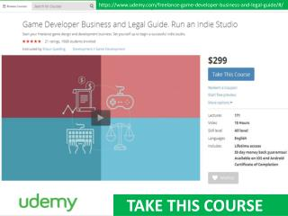 Game developer business and legal guide - Udemy course
