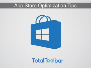 Windows App Store Optimization Tips