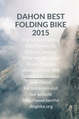 Dahon best folding bike 2015