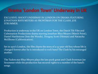 Drama 'London Town' Underway in UK