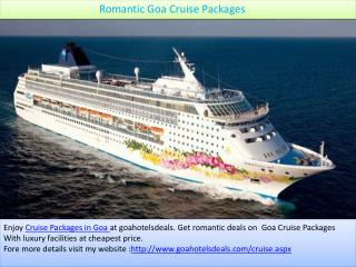 Romantic Goa Cruise Packages