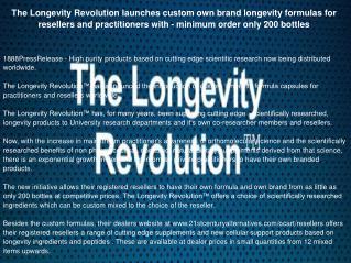 The Longevity Revolution launches custom own brand longevity formulas