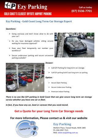 Ezy Parking - Gold Coast Long Term Car Storage Expert