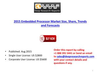 Global Embedded Processor Industry 2015 Research Report
