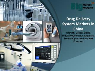 China Drug Delivery System Markets - Market Size, Share, Growth & Forecast