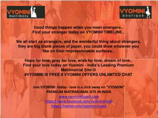 Find your stranger @Vyominishaadi