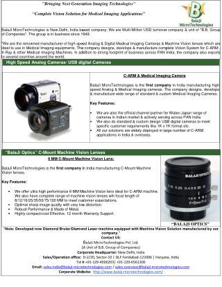 BALAJI MICROTECHNOLOGIES- C ARM CAMERA