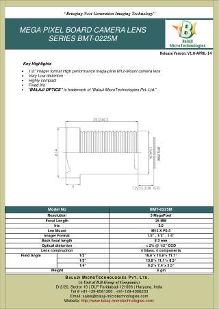 BMT-0225M_machine vision lens