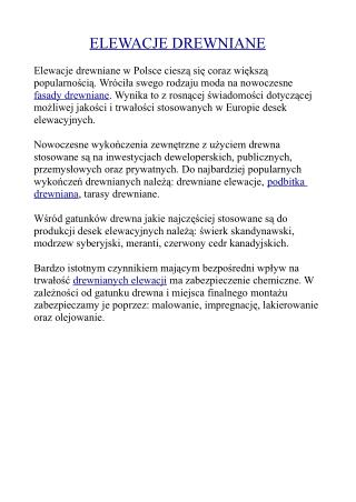 Elewacje drewniane w Polsce