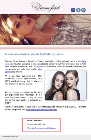 Femme Fatale Lashes� World�s Best False Eyelashes