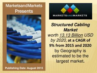 Structured Cabling Market worth $13.13 Billion by 2020
