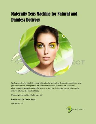 Maternity Tens Machine for Natural and Painless Delivery