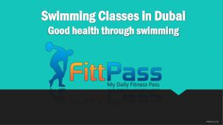 Swimming Classes in Dubai- Good health through swimming