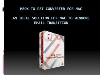 MBOX to PST Converter by Digital Tweaks