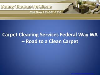 Carpet Cleaning Services Federal Way WA – Road to a Clean Carpet