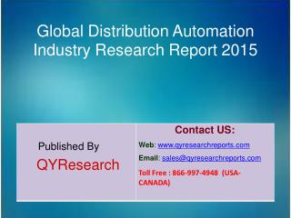 Global Distribution Automation Market 2015 Industry Demands,  Share, Overview, Forecast, Analysis, Growth, Research and