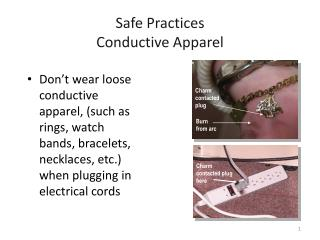 Safe Practices Conductive Apparel