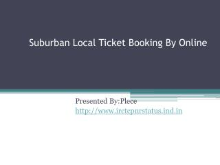 Suburban Local Ticket Booking Online