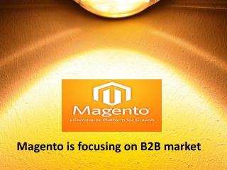 Magento is focusing on B2B market