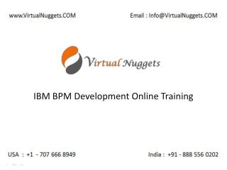 Instructor Led Live IBM Lombardi BPM Development 8.5.6