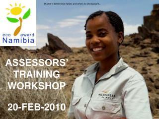 ASSESSORS  TRAINING WORKSHOP  20-FEB-2010