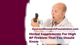 Herbal Supplements For High BP Problem That You Should Know
