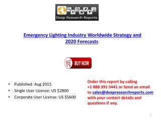 Global Emergency Lighting Industry 2015 Research Report