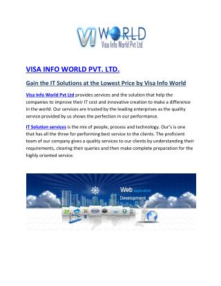 visa info world IT solution india|web development in lowest price india-visainfoworld.com