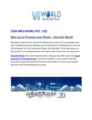 Visa info world Pvt Ltd|mobile development service in lowest price in india-visainfoworld.com