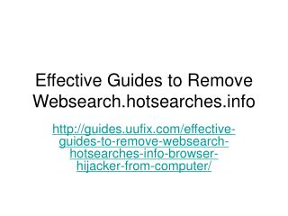 Effective guides to remove websearch.hotsearches.info