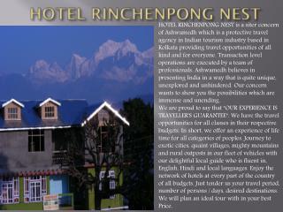 Hotel Rinchenpong Nest