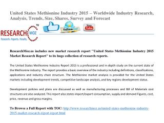 United States Methionine Industry 2015 Market Research Report