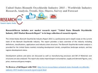 United States Bismuth Oxychloride Industry 2015 Market Research Report