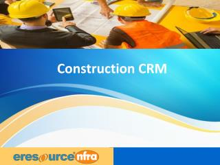 Customer Relationship Management ERP Software-eresource nfra ERP