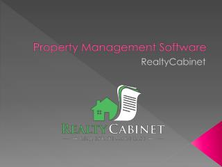 RealtyCabinet - Property Management Software