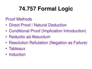 74.757 Formal Logic