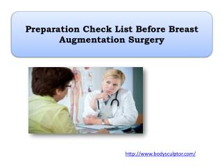 Preparation Check List Before Breast Augmentation Surgery