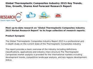 Global Thermoplastic Composites Industry 2015 Market Research Report