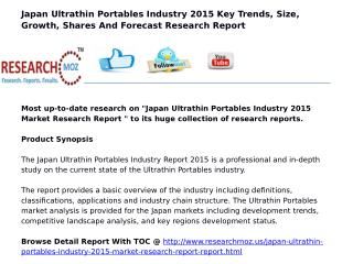 Japan Ultrathin Portables Industry 2015 Market Research Report