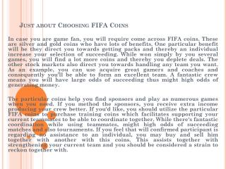 Just about Choosing FIFA Coins