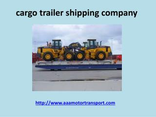 Heavy Equipment Shipping company