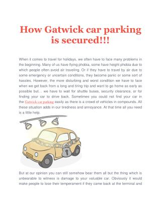 How Gatwick car parking is secured!!!