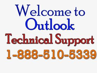 outlook technical support number - 1-888-510-5339