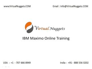 IBM Maximo Online Training Services at VirtualNuggets