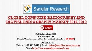 2019 World Computed Radiography and Digital Radiography Industry by Market Size, Trends, Drivers and Growth Opportunitie