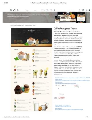 Coffee Wordpress Theme