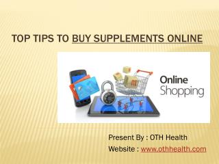 Tips To Buy Supplements Online